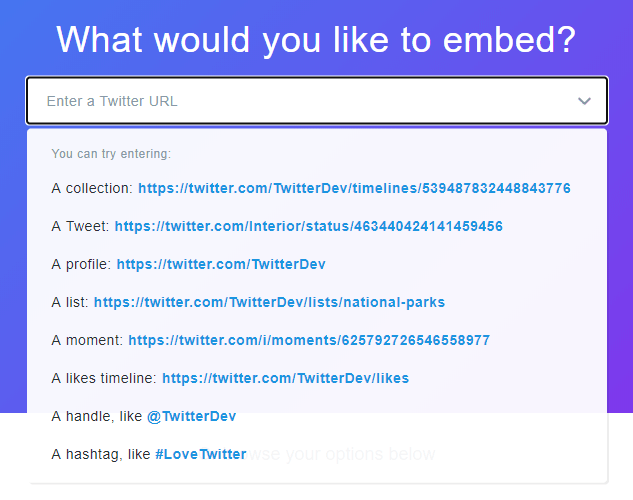 twitter embed